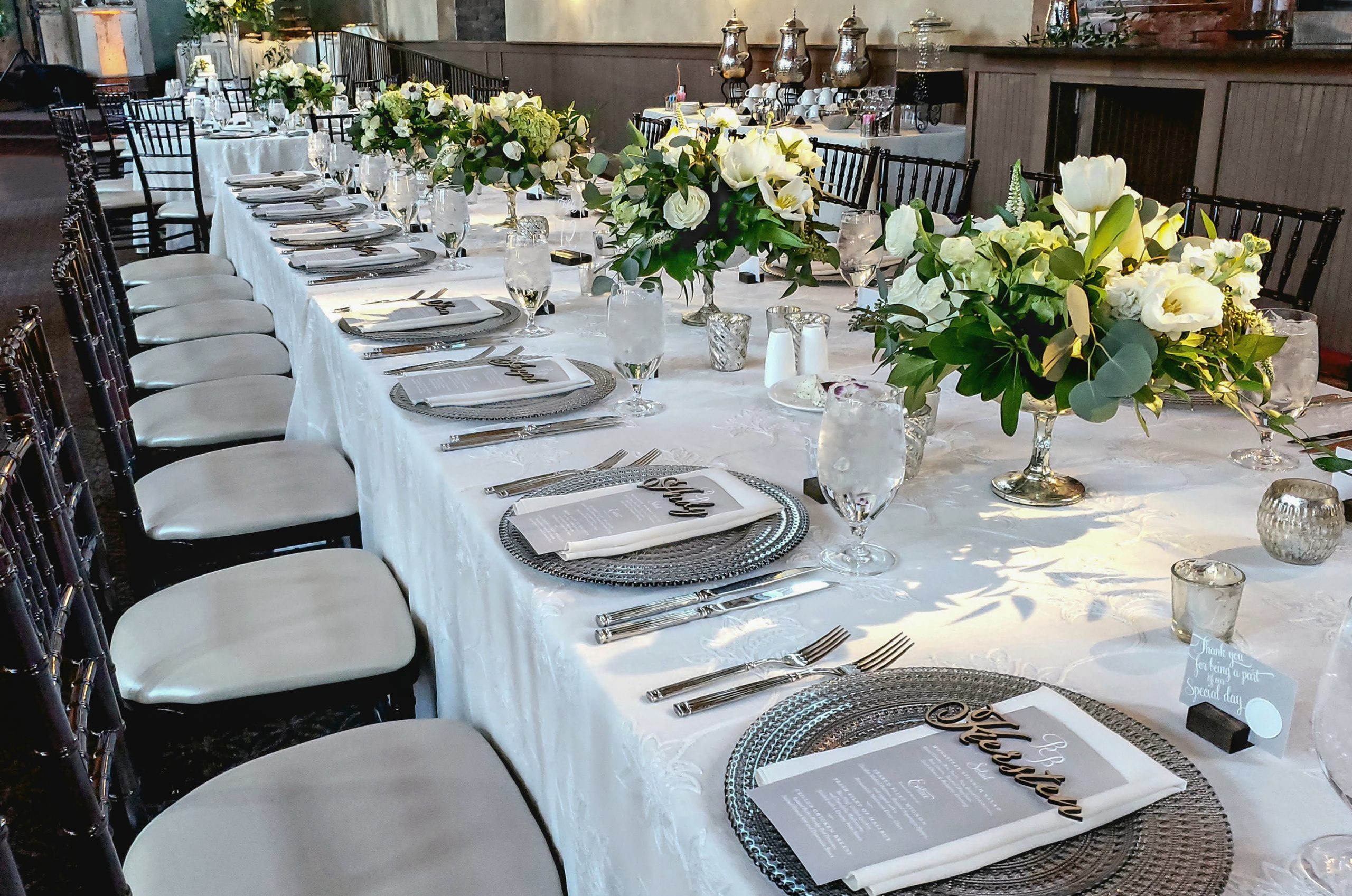 Long Table Settings Centerpieces Monastery